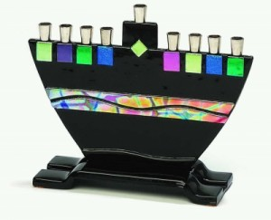 Contemporary Glass Menorah