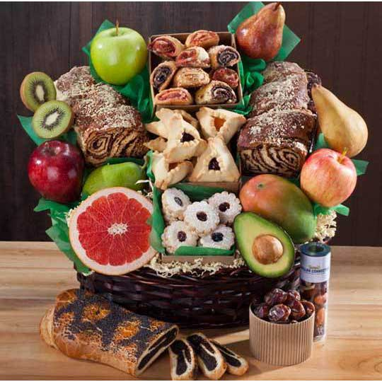 basket holiday kosher deluxe jewish rivington street fruit baskets gift gifts comfort well food fresh sympathy enlarge challah cart