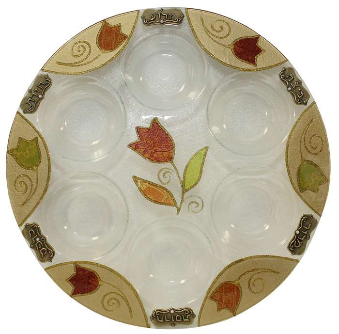 Handcrafted In Israel By Lily Art Seder Plate|Passover