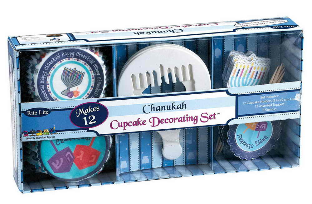 cupcakes, cupcake wrappers, cupcake decorations, happy hanukkah, food, party