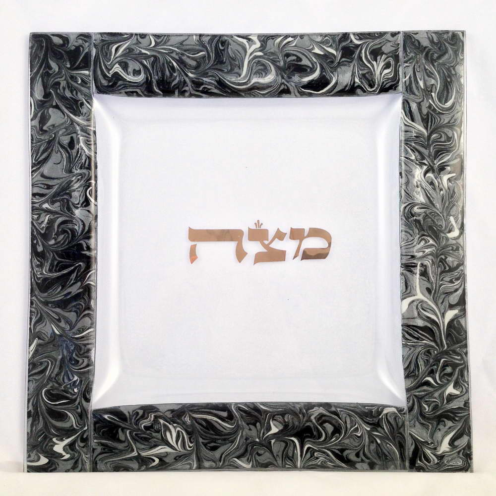passover gifts silver dust marbled glass seder set by tamara baskin. Black Bedroom Furniture Sets. Home Design Ideas