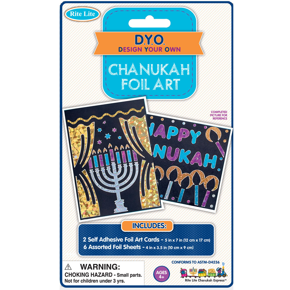 hanukkah gift art craft hanukkah foil kit