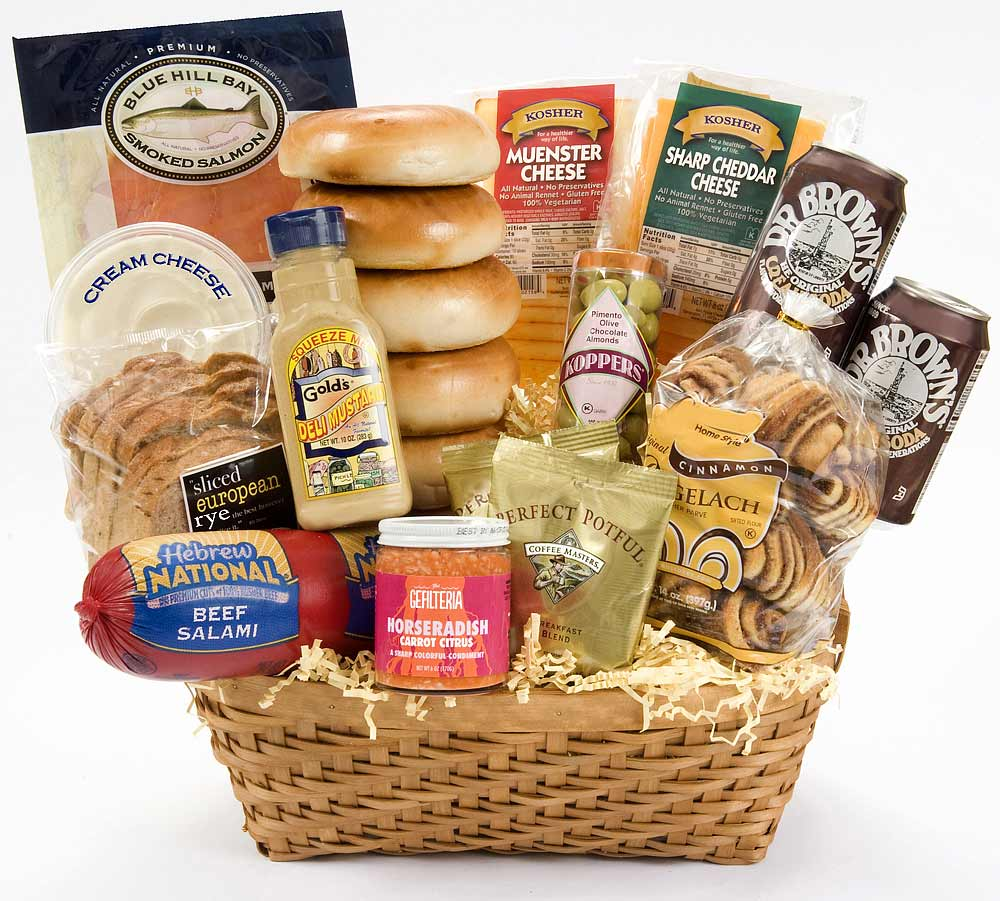 Gift Baskets-Kosher Deli Deluxe Gift Basket